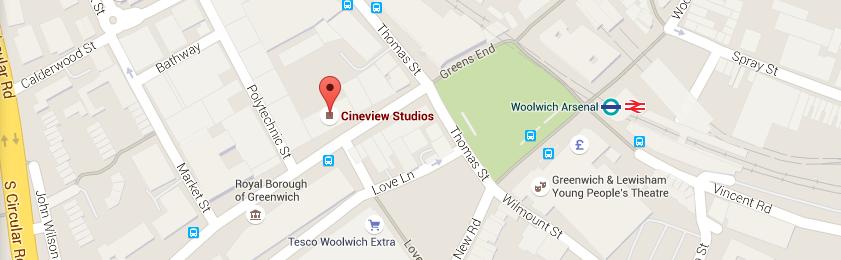 Cineview Studios Location