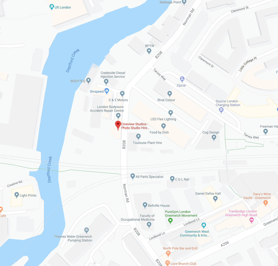 Photography-Studio-Hire-London-Map